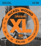 D'Addario EXL110 Nickel Wound Electric Guitar Strings; Regular Light Gauge; 10-46