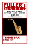 Superslick TSCK Tenor Saxophone Care Kit