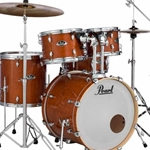Pearl EXL725C249 EXL Export Lacquer Standard Drum Kit; Honey Amber w/ 830 Hardware