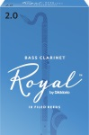 RRBCL Rico Royal Bass Clarinet Reeds; 10-pack