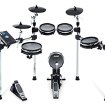 Alesis COMMMESHKITXUS Command 8-Piece Drum Kit with Over 600 Sounds, All Mesh Pads, 3 Sided Rack