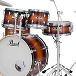 Pearl EXL725SC222 EXL Export Lacquer Standard Drum Kit; Gloss Tobacco Burst w/ 830 Hardware