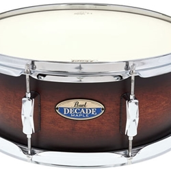 "Pearl DMP1455SC260 Decade Maple 5.5"" x 14"" Snare Drum; Satin Brown Burst"