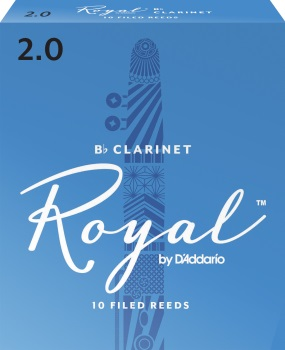 RRCL Rico Royal Bb Clarinet Reeds; 10-pack