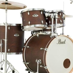 Pearl EXL725C220 EXL Export Lacquer Standard Drum Kit; Satin Brown w/ 830 Hardware